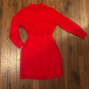 ASOS Long Sleeve Red Dress